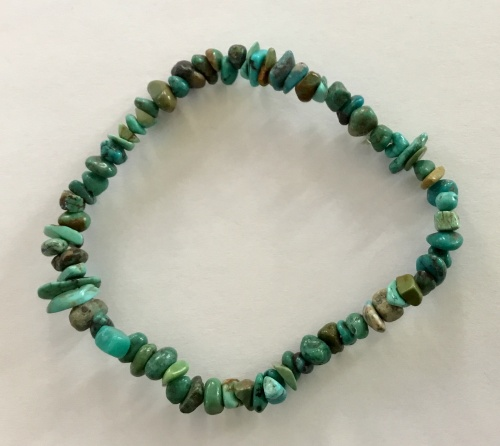 Turquoise Chip Stretch Bracelet