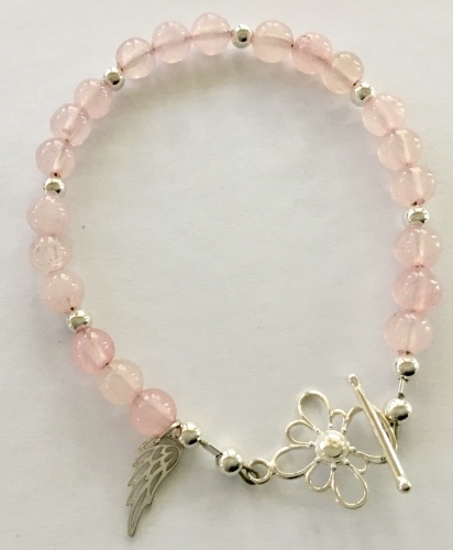 Rose Quartz & Sterling Bracelet