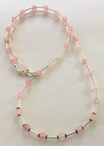 Rose Quartz & Sterling Necklace