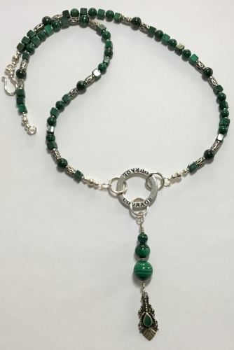 Malachite & Sterling Courage Necklace