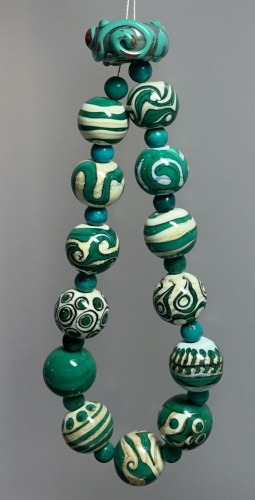Turquoise & Ivory Orbs