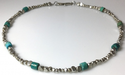 Turquoise & Sterling Choker
